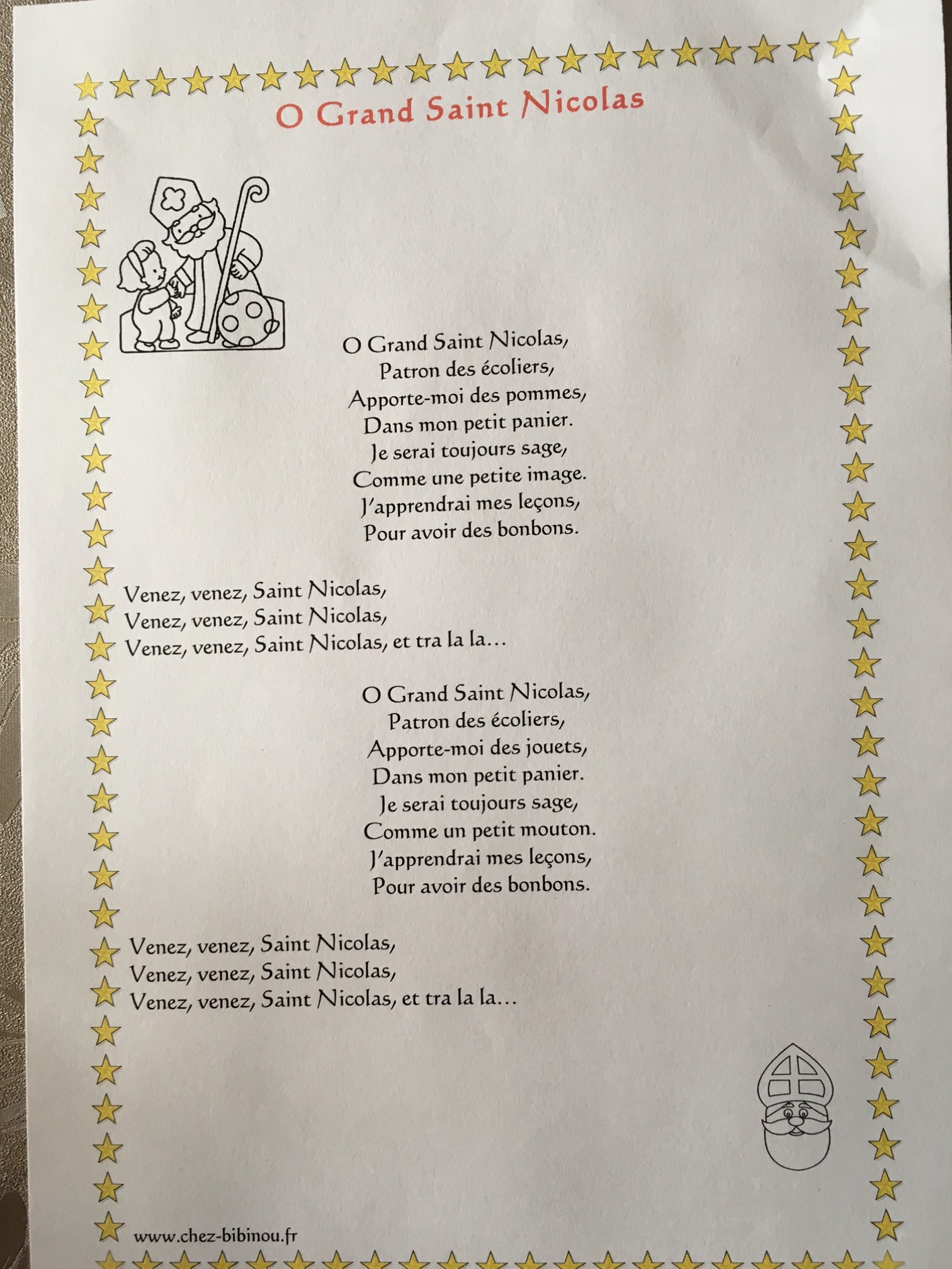 Ô Grand Saint Nicolas