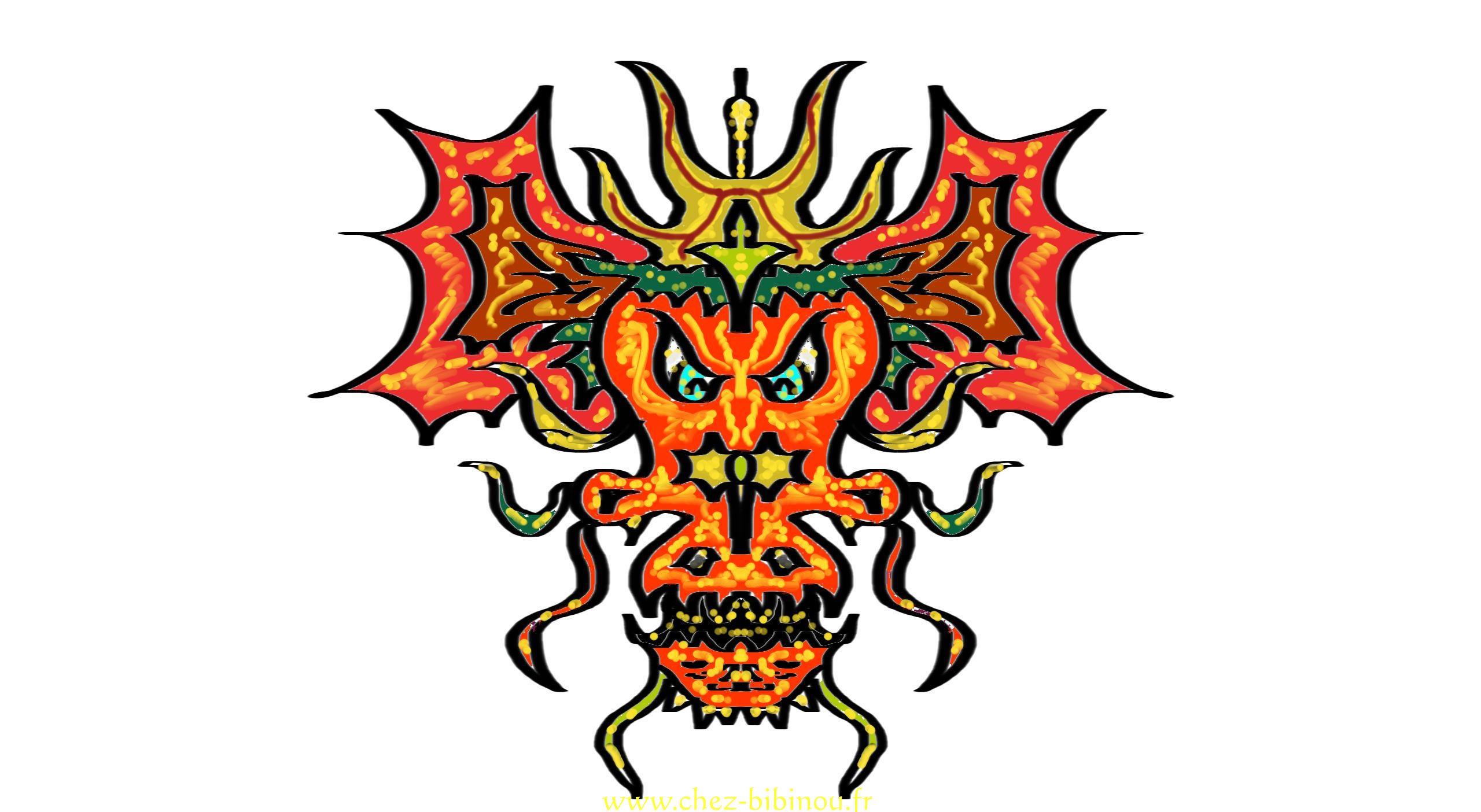 Tuto dragon chez bibinou - Dragon a colorier ...