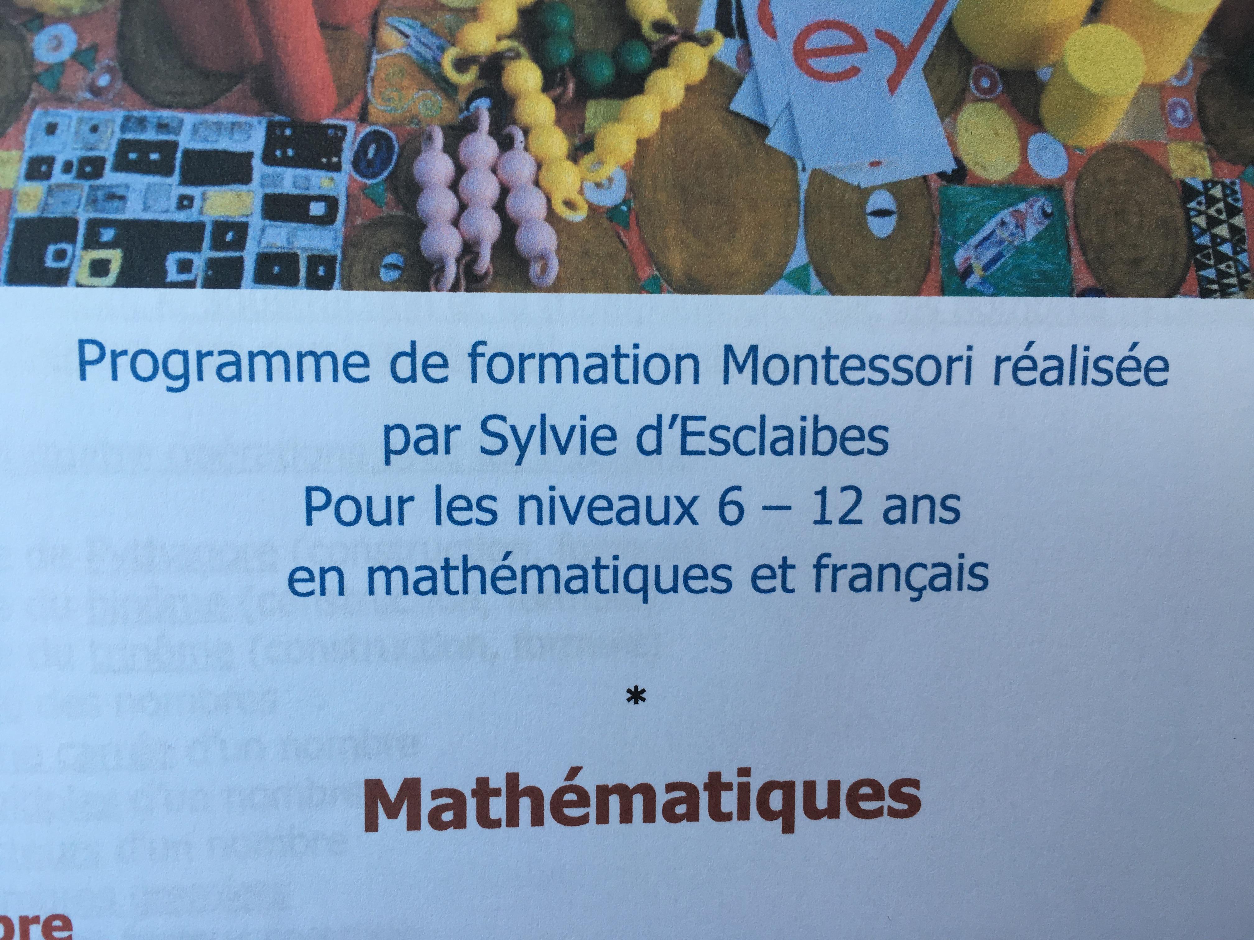 Montessori, Septembre 2017