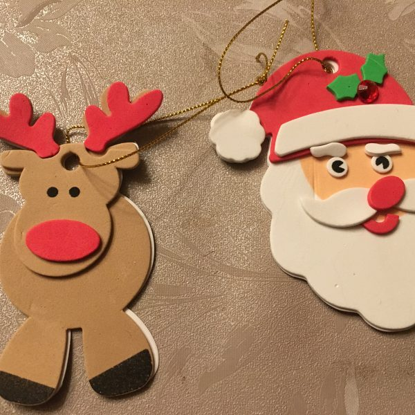 Père Noël et renne