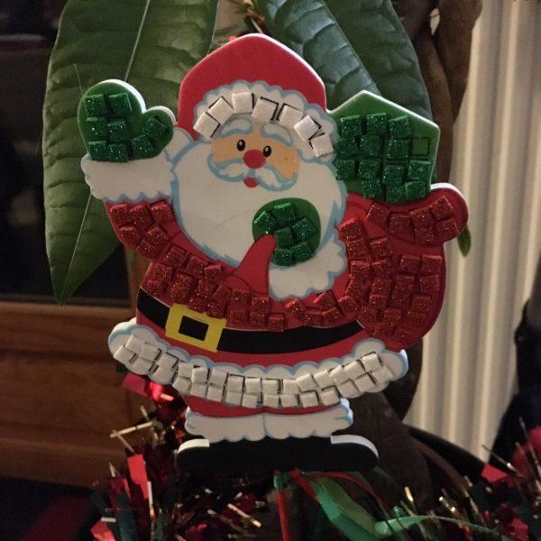Père Noël en mosaïques
